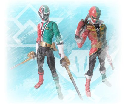 Shinken and Gokai Christmas by 0PT1C5