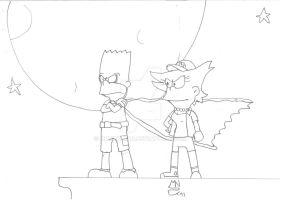 Bartman and Surpreme Lisa by MrNintMan