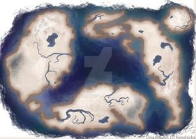 Fantasy Map - [SOLD] by Daarka