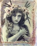 vintage nature girl by cannibol