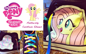 SOLD: Fluttershy Custom Shoes by XxPonyPuffPrincessXx