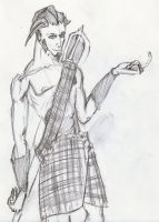Magaki in Tartan by Jester-of-the-Clown