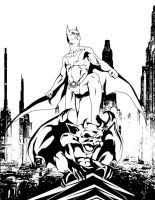 Batman Beyond BW by Iantoy