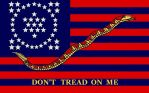 DONT TREAD ON ME with 50star History Constellation by DesertStormVet
