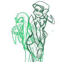 WIP Developing a new style - Allison and Veronica by SneakyAlbatross