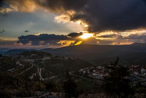 Sunset and clouds by ShlomitMessica