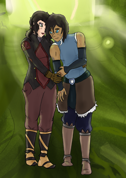 Korrasami: Lean on Me Close Up by EndlessDestiny