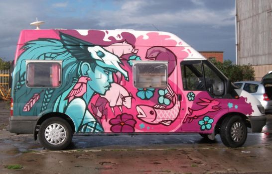 Nature Goddess - Camper Van Fun Times by Frizelle