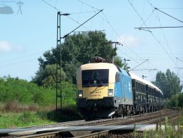 Orient Express w. 1047 010-2 between Gyor and Abda by morpheus880223