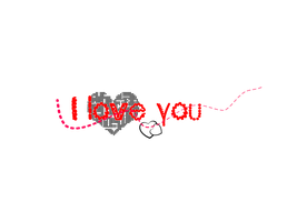 I love you texto png by Carol05