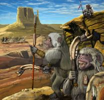 Glorantha : Baboon Hunting Party by Blackyinkin