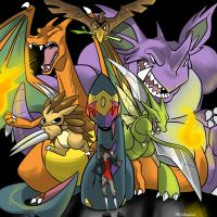 Team Slash by JHALLpokemon