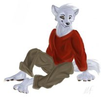 furry wolf teen by crewwolf