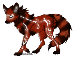 Red Panda Canine Adoptable-(CLOSED) by Amabyllis
