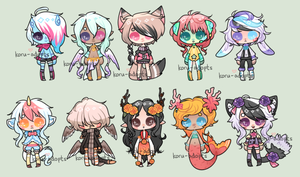 VII-XVI Big Batch {Auction} CLOSED by Koru-Adopts