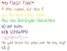 My First Font - Download! by Hate-Lynn