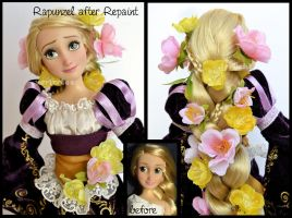 repainted ooak rapunzel doll. - seeing the lantern by verirrtesIrrlicht