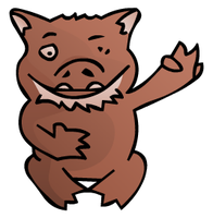 Snicky the Deranged Wombat by onilukos