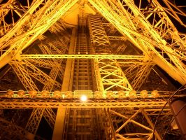 Hoistway of the Eiffel Tower by bschulze