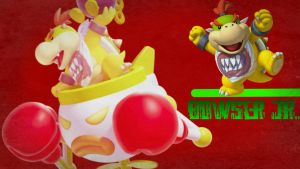 Bowser Jr. Desktop Wallpaper by LostCrystal