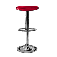 Le tabouret rouge by Alizarinna