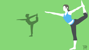 Wii Fit Trainer Minimalist by turpinator77