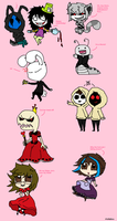 Creepypasta in Wonderland by PuffaEmo