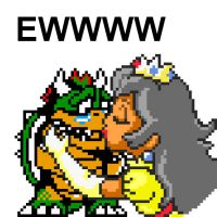 old peach kissing bowser :D by dylrocks95