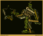 Jorgen Von Strangle Word Cloud Typography by 120dog