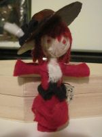 Madame Red Voodoo Doll by MarieWithers
