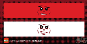 LEGO Minifig Decals - The Red Skull by Concore