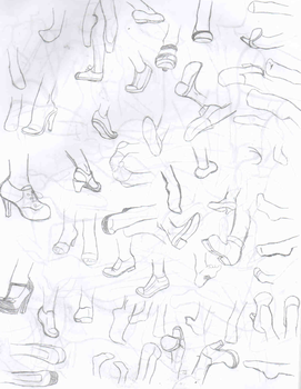 Foot and shoe practice by blairthewitchcat