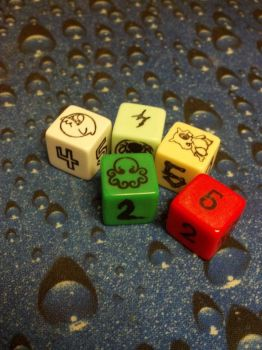 Custom Printed Dice by sazriel