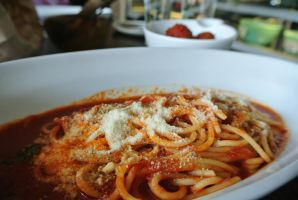 Spaghetti with Tomato Sauce by Shinseigo-Takashi