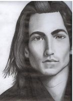 JR, a model with long hair. by Amenite