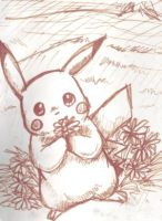 Pikachu and Flowers by PacificPikachu