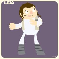 L is for Leia by striffle