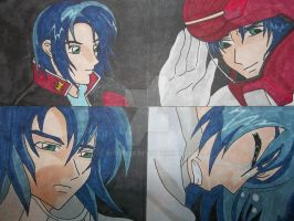 Athrun Collage by rugbiter