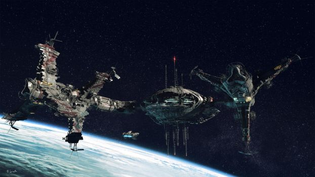 space station 2nd view by Jett0