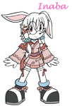 Art Trade: Inaba the Bunny by DragonQuestHero