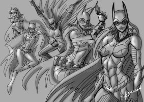 Batgirls WIP Ink by ADL-art