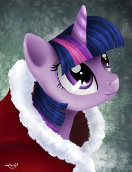 Merry Christmas from Twilight Sparkle by PaintedHoofprints