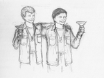 Hawkeye and Trapper by SpecialWeaponsDalek