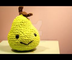 pear amigurumi by theyarnbunny