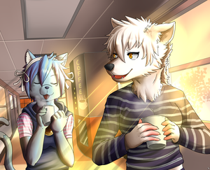 Coffee~!! (Commission) by PencilTips