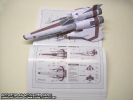 BSG papercraft Viper Mark II by ninjatoespapercraft