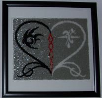 The Two-sided Heart - In Beads! by WolfSpirit07