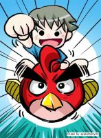 Angry Birds vs Little Jeat by frysotong