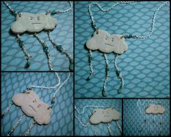 Grumpy Raincloud Necklace by Noviel