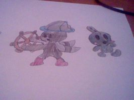 Fakemons-Steamboi and Retrillie by GamingDylan